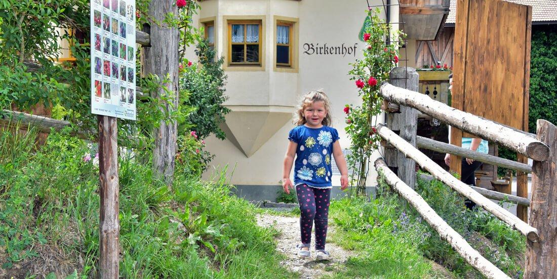 Le famiglie sono benvenute al maso Birkenhof