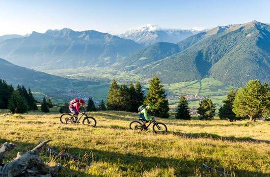 Mountainbike im Vinschgau